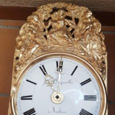 Relojes de pared: RELOJ ANTIGUO DE CAMPANA MUY DETALLADO BUEN ESTADO FUNCIONA ALTA COLECCIÓN. Lote 261231575