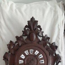 Relojes de pared: RELOJ PARED MADERA ANTIGUO. Lote 262067595