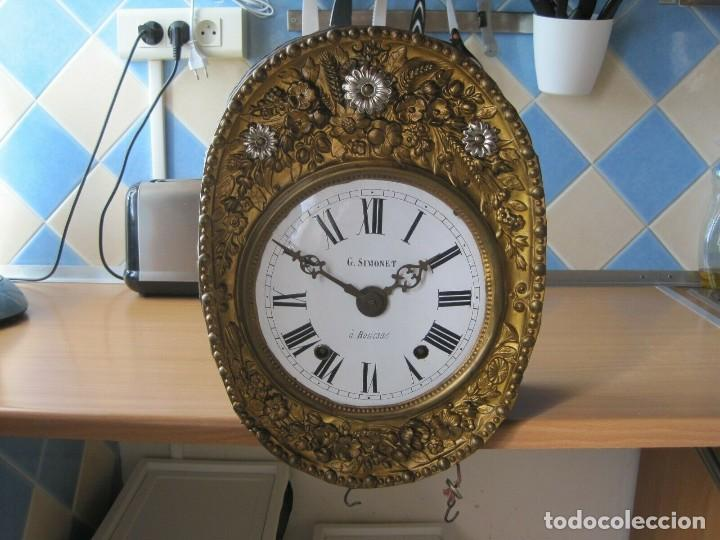 ANTIGUA MAQUINARIA MOREZ DE PESAS - AÑO 1870- COMPLETA Y FUNCIONAL- LOTE 258-MUY BUEN ESTADO (Relojes - Pared Carga Manual)