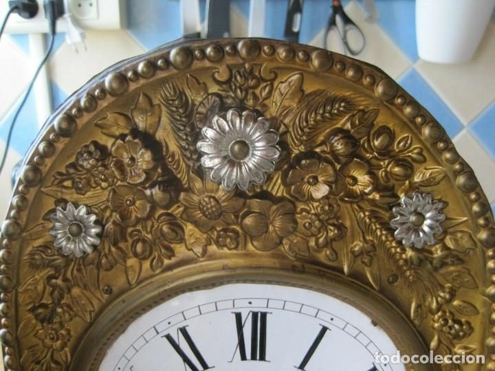 Relojes de pared: antigua maquinaria MOREZ de PESAS - año 1870- COMPLETA Y FUNCIONAL- LOTE 258-MUY BUEN ESTADO - Foto 2 - 262307445