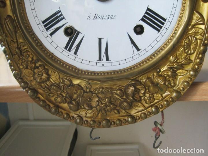 Relojes de pared: antigua maquinaria MOREZ de PESAS - año 1870- COMPLETA Y FUNCIONAL- LOTE 258-MUY BUEN ESTADO - Foto 4 - 262307445