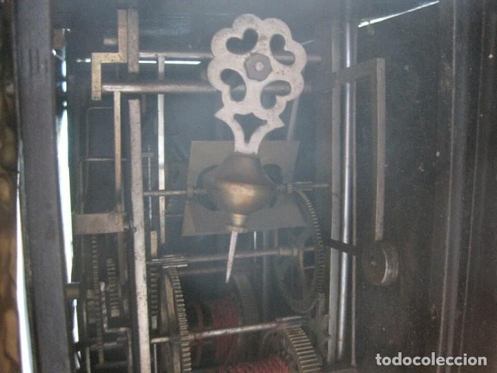 Relojes de pared: antigua maquinaria MOREZ de PESAS - año 1870- COMPLETA Y FUNCIONAL- LOTE 258-MUY BUEN ESTADO - Foto 5 - 262307445