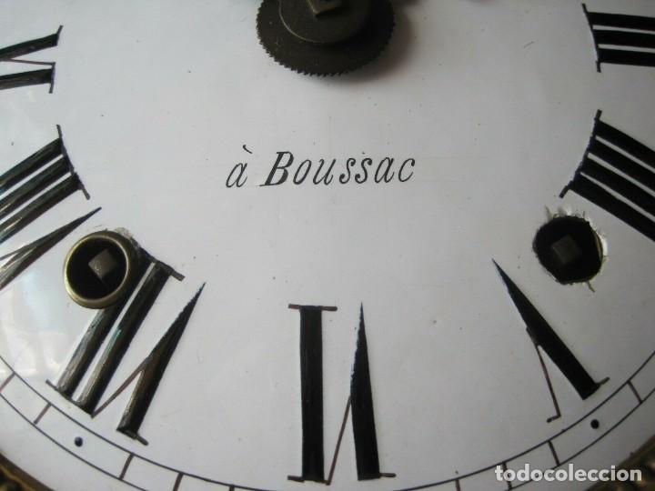 Relojes de pared: antigua maquinaria MOREZ de PESAS - año 1870- COMPLETA Y FUNCIONAL- LOTE 258-MUY BUEN ESTADO - Foto 8 - 262307445