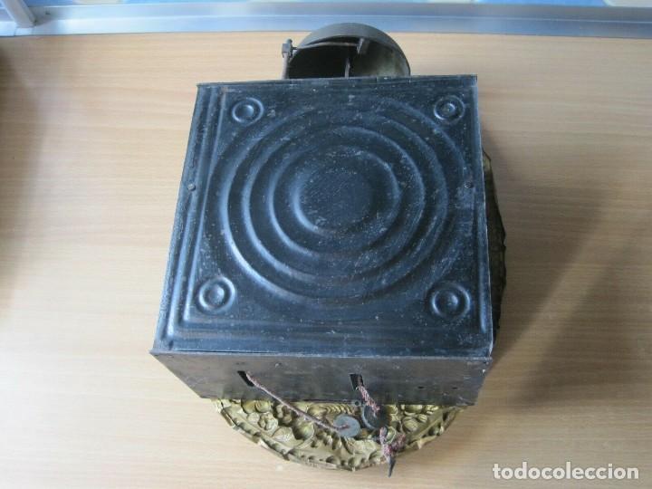 Relojes de pared: antigua maquinaria MOREZ de PESAS - año 1870- COMPLETA Y FUNCIONAL- LOTE 258-MUY BUEN ESTADO - Foto 9 - 262307445
