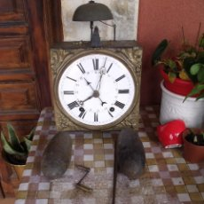Relojes de pared: ¡¡GRAN OFERTA !!! ANTIGUO RELOJ MOREZ PESAS-CON CALENDARIO-AÑO 1860-COMPLETO Y FUNCIONAL-LOTE 394. Lote 285051883
