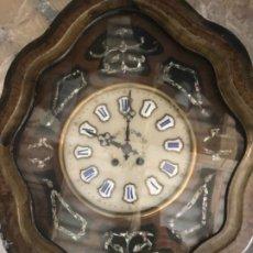 Relojes de pared: RELOJ PARED CON INCUSTRACIONES. Lote 263756635