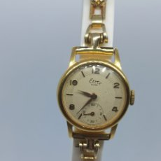 Relojes de pared: RELOJ MUJER ÈLITE LUXE 15 JEWELS PLACA DE ORÓ 20 MICRAS. Lote 266354638