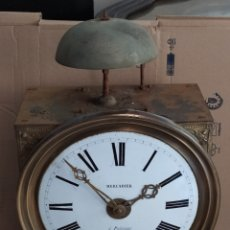 Relógios de parede: FABULOSO RELOJ MOREZ ANTIGUO, CAMPANA BRONCE. Lote 267258519