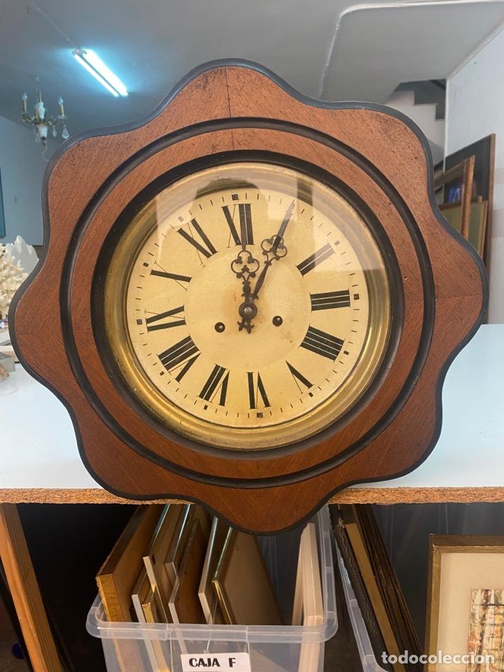 RELOJ DE PARED ANTIGUO OJO DÉ BUEY (Relojes - Pared Carga Manual)