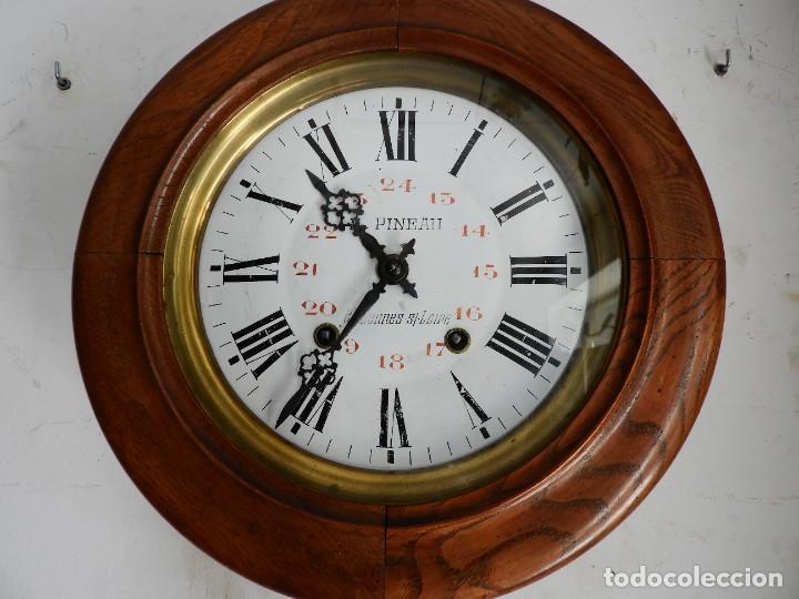 Relojes de pared: RELOJ DE PARED REDONDO DE MADERA DE ROBLE SIN SONERIA - Foto 2 - 267859484