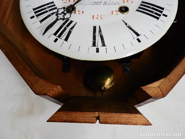 Relojes de pared: RELOJ DE PARED REDONDO DE MADERA DE ROBLE SIN SONERIA - Foto 5 - 267859484