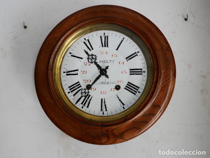Relojes de pared: RELOJ DE PARED REDONDO DE MADERA DE ROBLE SIN SONERIA - Foto 6 - 267859484