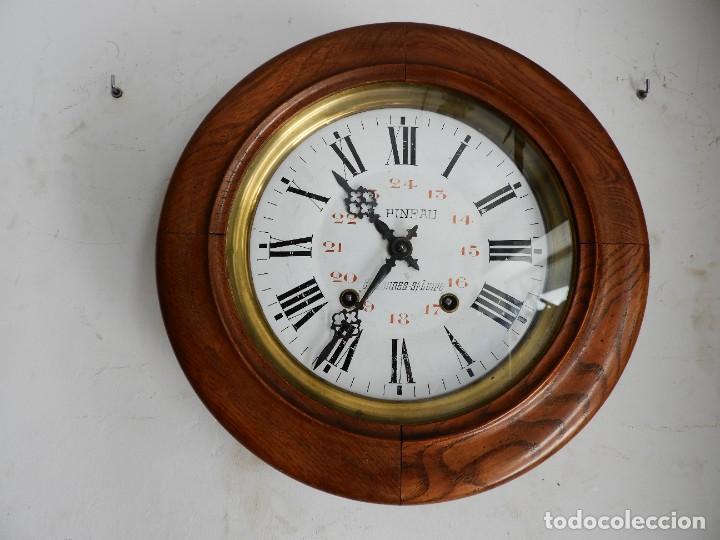 Relojes de pared: RELOJ DE PARED REDONDO DE MADERA DE ROBLE SIN SONERIA - Foto 7 - 267859484