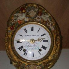 "Relojes de pared: OLD COMTOISE MOVEMENT ""BLONDEAU-LAPPRAND"" RINGTONE: GONG. Lote 269629698"