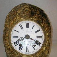 "Relojes de pared: OLD COMTOISE MOVEMENT ""OCTAVE HURET"" RINGTONE: GONG. Lote 269630613"