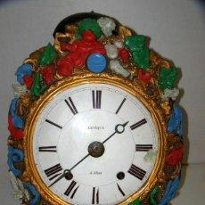 """Relojes de pared: OLD COMTOISE MOVEMENT """"LÉVEQUE"""" RINGTONE: BELL. Lote 269632523"""