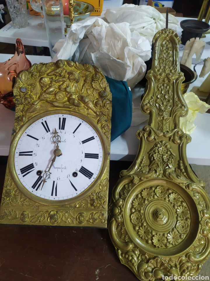 ANTIGUO RELOJ MOREZ DE CAMPANA PENDULO REAL SIGLO XIX (Relojes - Pared Carga Manual)