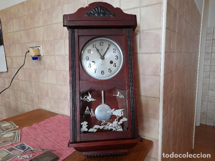 ANTIGUO RELOJ DE PARED POLARIS, 31 DIAS, 2 CUERDAS, CON SONIDO (Relojes - Pared Carga Manual)