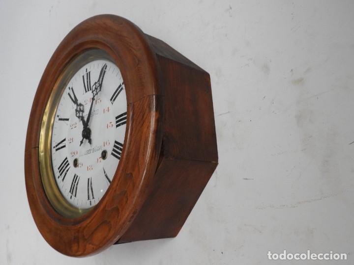 Relojes de pared: RELOJ DE PARED REDONDO DE MADERA DE ROBLE SIN SONERIA - Foto 8 - 267859484