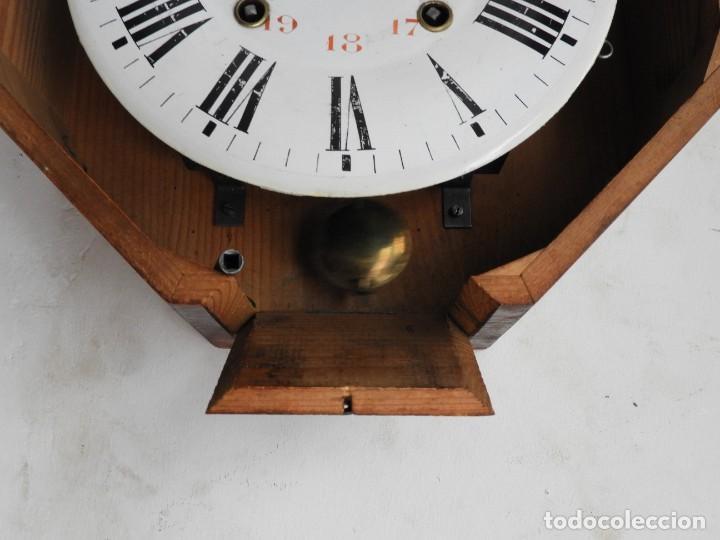 Relojes de pared: RELOJ DE PARED REDONDO DE MADERA DE ROBLE SIN SONERIA - Foto 10 - 267859484