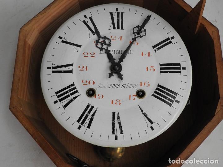 Relojes de pared: RELOJ DE PARED REDONDO DE MADERA DE ROBLE SIN SONERIA - Foto 11 - 267859484