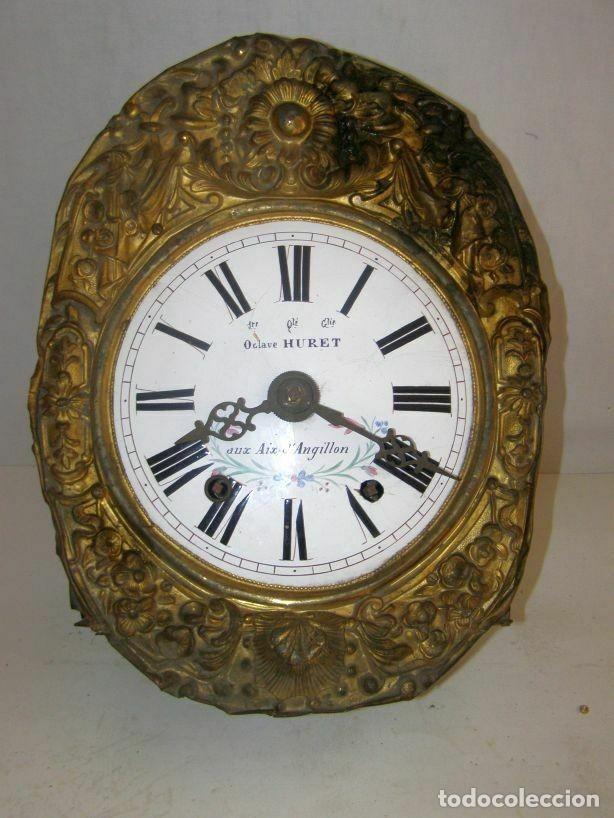 Relojes de pared: Ancien mouvement de comtoise + balancier lyre D 24cm + 2 poids + clé - Foto 2 - 270098498