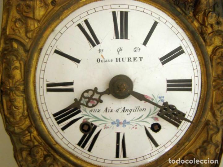 Relojes de pared: Ancien mouvement de comtoise + balancier lyre D 24cm + 2 poids + clé - Foto 3 - 270098498