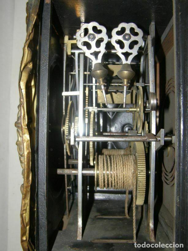 Relojes de pared: Ancien mouvement de comtoise + balancier lyre D 24cm + 2 poids + clé - Foto 5 - 270098498