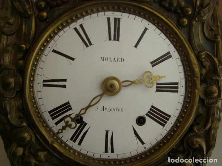 Relojes de pared: Ancien mouvement de comtoise + balancier + 2 poids + clé - Foto 3 - 270098803