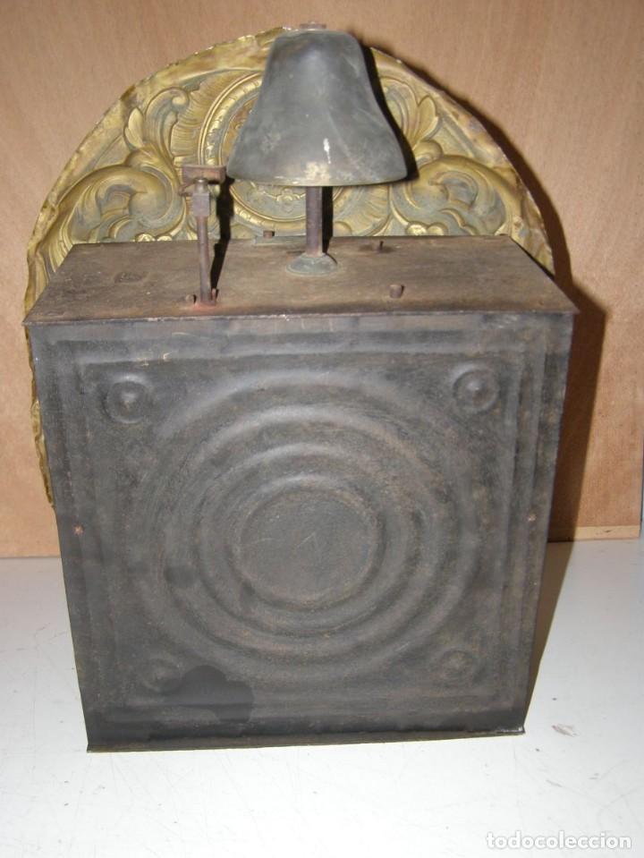 Relojes de pared: Ancien mouvement de comtoise + balancier + 2 poids + clé - Foto 4 - 270098803