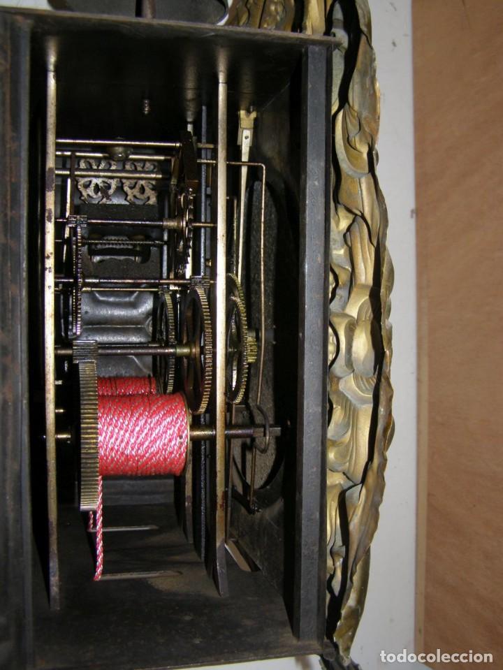 Relojes de pared: Ancien mouvement de comtoise + balancier + 2 poids + clé - Foto 5 - 270098803