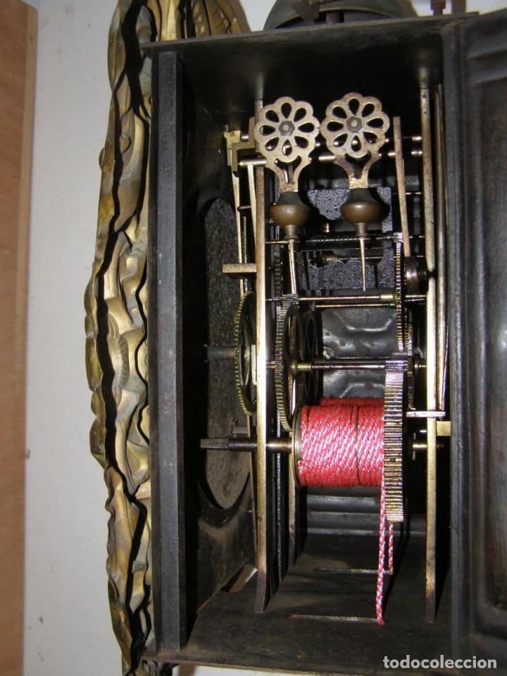 Relojes de pared: Ancien mouvement de comtoise + balancier + 2 poids + clé - Foto 6 - 270098803