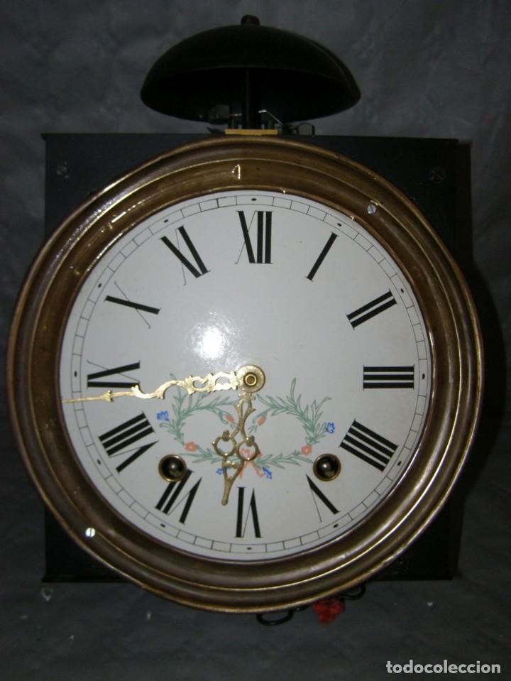 Relojes de pared: Ancien mouvement de comtoise + balancier lyre D 27cm + 2 poids + clé - Foto 2 - 270099813