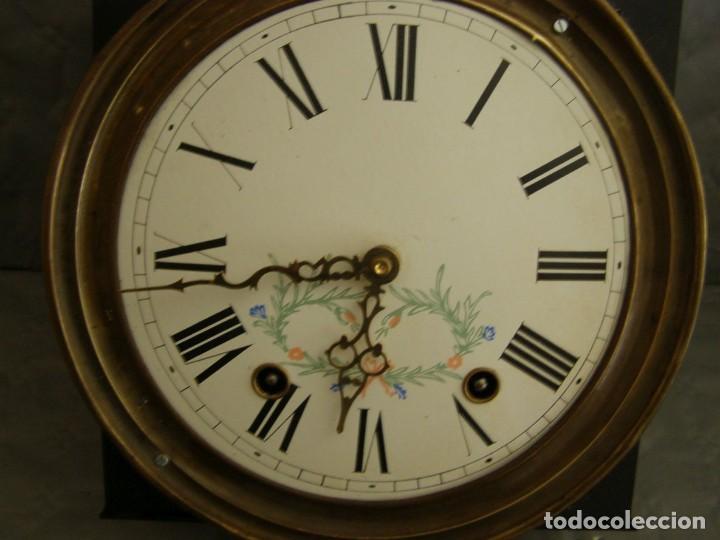 Relojes de pared: Ancien mouvement de comtoise + balancier lyre D 27cm + 2 poids + clé - Foto 3 - 270099813