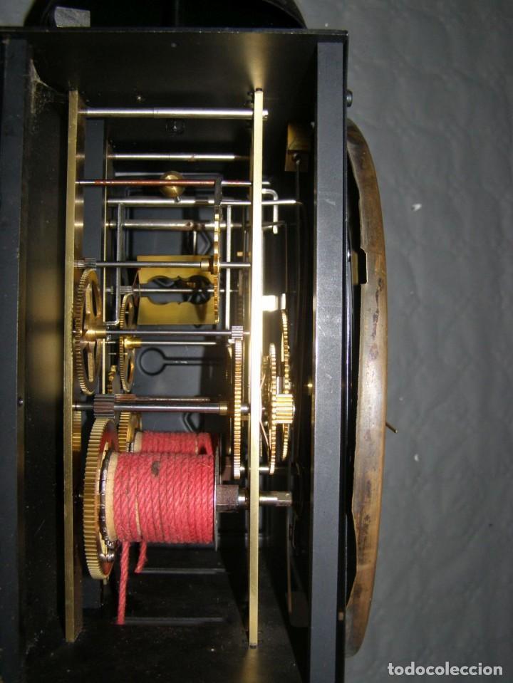 Relojes de pared: Ancien mouvement de comtoise + balancier lyre D 27cm + 2 poids + clé - Foto 5 - 270099813