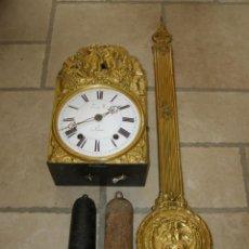 Relojes de pared: ANCIEN MOUVEMENT DE COMTOISE + BALANCIER + 2 POIDS + CLÉ. Lote 270100043