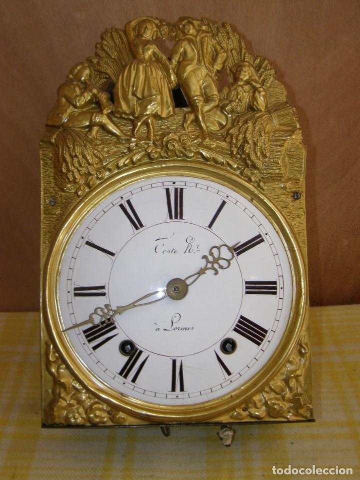 Relojes de pared: Ancien mouvement de comtoise + balancier + 2 poids + clé - Foto 2 - 270100043