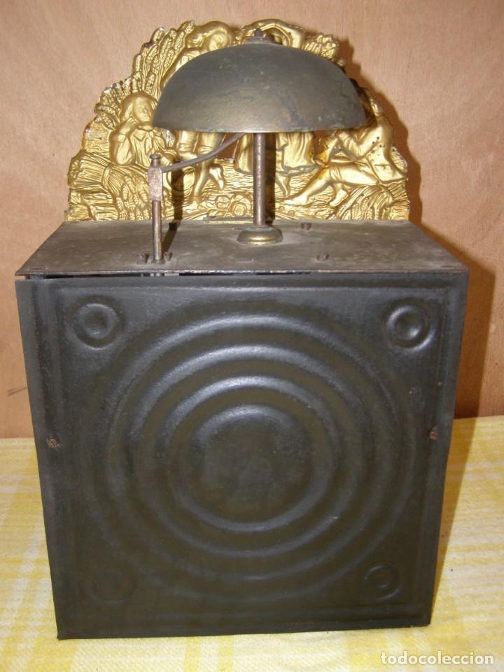 Relojes de pared: Ancien mouvement de comtoise + balancier + 2 poids + clé - Foto 4 - 270100043