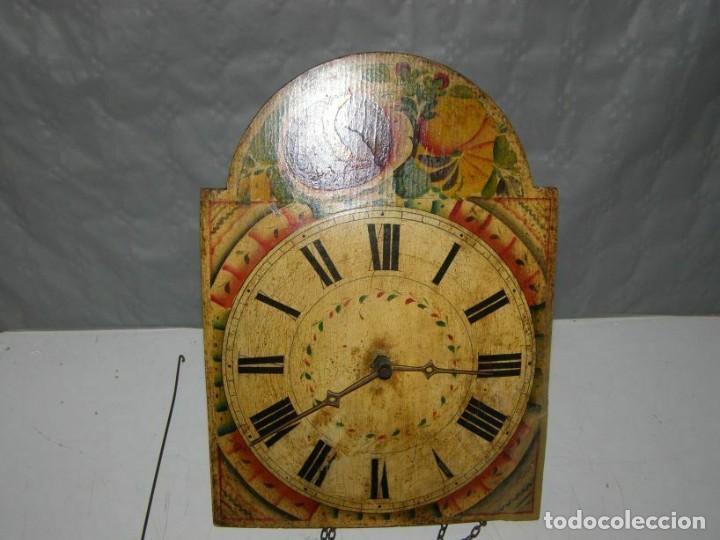 Relojes de pared: Ancien mouvement de comtoise Forêt noire (XVIIIè) avec son balancier et 2 poids - Foto 2 - 270101053