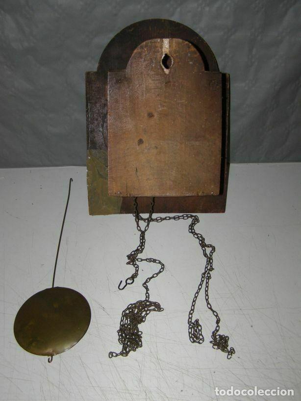 Relojes de pared: Ancien mouvement de comtoise Forêt noire (XVIIIè) avec son balancier et 2 poids - Foto 3 - 270101053