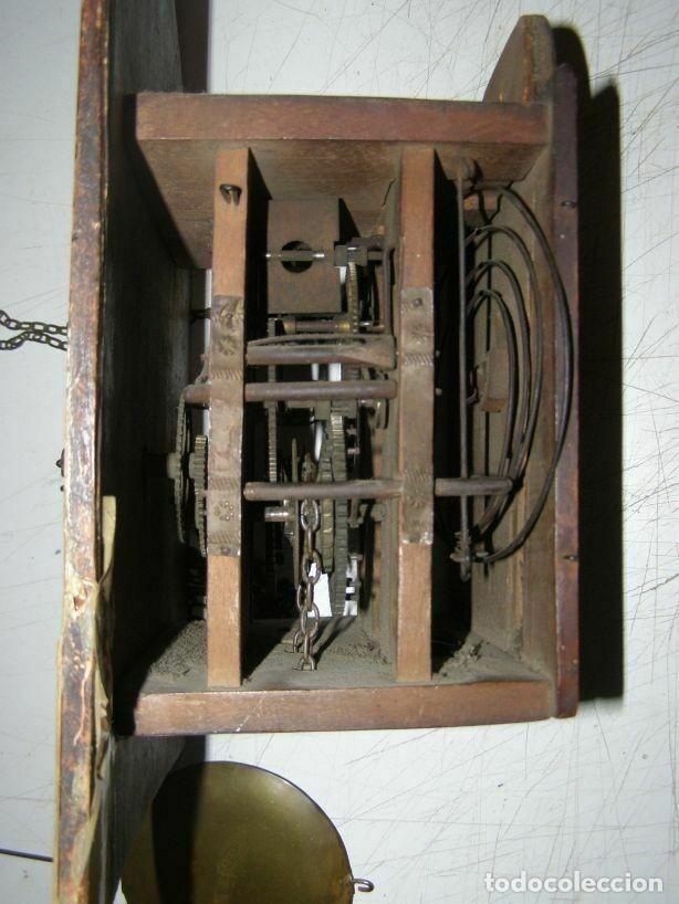 Relojes de pared: Ancien mouvement de comtoise Forêt noire (XVIIIè) avec son balancier et 2 poids - Foto 4 - 270101053