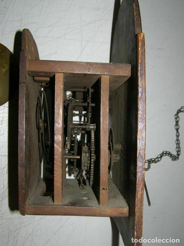 Relojes de pared: Ancien mouvement de comtoise Forêt noire (XVIIIè) avec son balancier et 2 poids - Foto 5 - 270101053