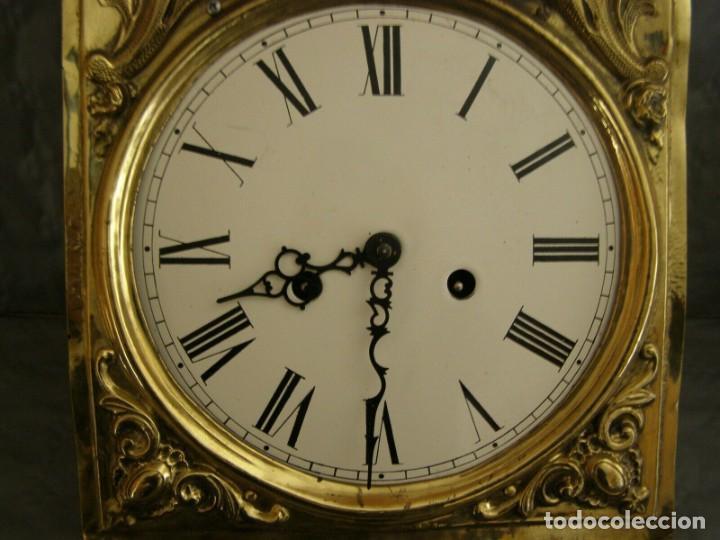 Relojes de pared: Ancien mouvement de comtoise + balancier lyre diamètre 28cm + 2 poids + clé - Foto 3 - 270101628