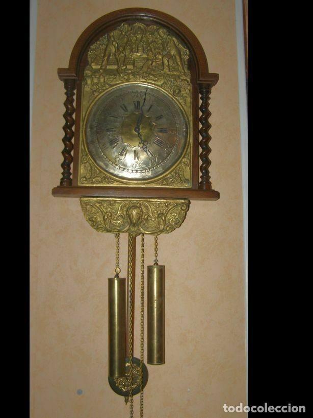 ANCIEN MOUVEMENT DE COMTOISE (XIXÈ) AVEC BALANCIER ET 2 POIDS (Relojes - Pared Carga Manual)
