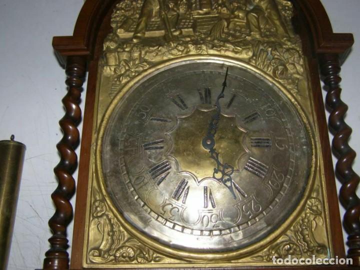 Relojes de pared: Ancien mouvement de comtoise (XIXè) avec balancier et 2 poids - Foto 3 - 270102313