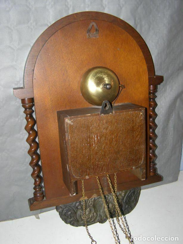 Relojes de pared: Ancien mouvement de comtoise (XIXè) avec balancier et 2 poids - Foto 4 - 270102313