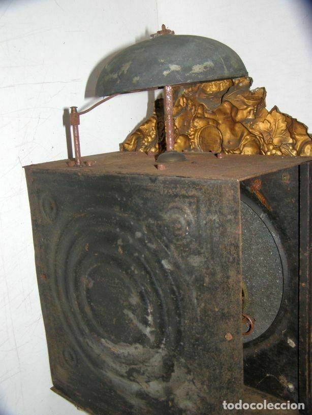Relojes de pared: Ancien mouvement de comtoise + balancier lentille D 16cm + clé + 2 poids - Foto 4 - 270103933