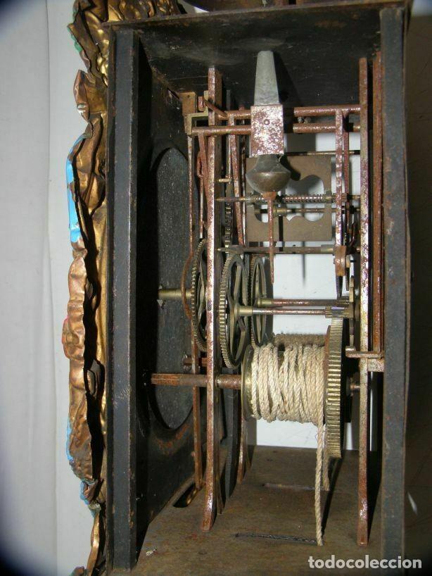 Relojes de pared: Ancien mouvement de comtoise + balancier lentille D 16cm + clé + 2 poids - Foto 5 - 270103933