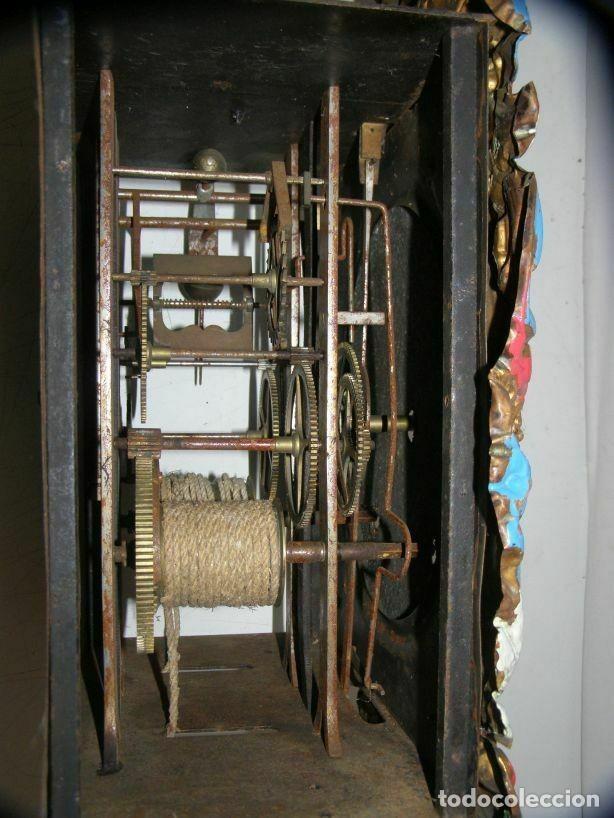 Relojes de pared: Ancien mouvement de comtoise + balancier lentille D 16cm + clé + 2 poids - Foto 6 - 270103933