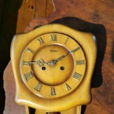 Relojes de pared: RELOJ DE PARED HIENINGEN DE MADERA CON SONERIA FUNCIONANDO. Lote 272860123